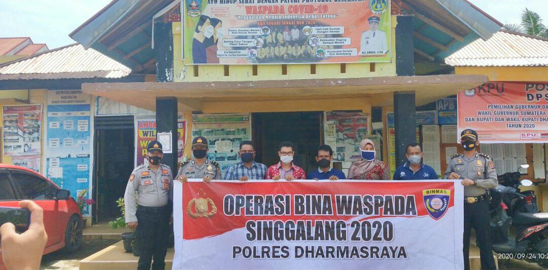 Kunjungan Binmas Polres Dharmasraya ke Nagari Sungai Duo dalam rangka Operasi Bina Waspada Singgalang 2020
