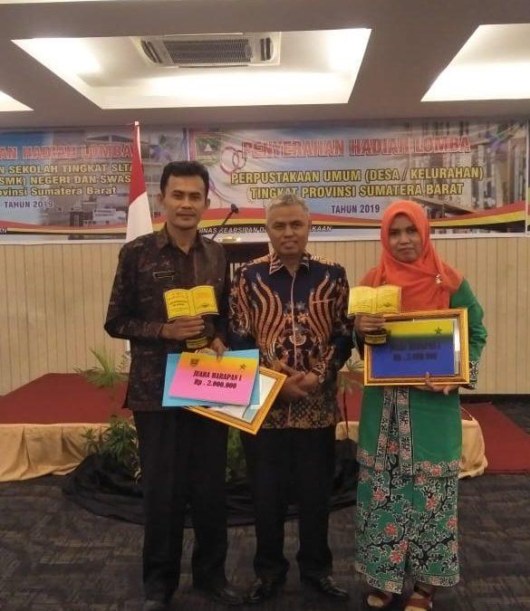 Perpustakaan Pelangi Nagari Sungai Duo mendapatkan Juara Harapan I tingkat Privinsi Sumatera Barat