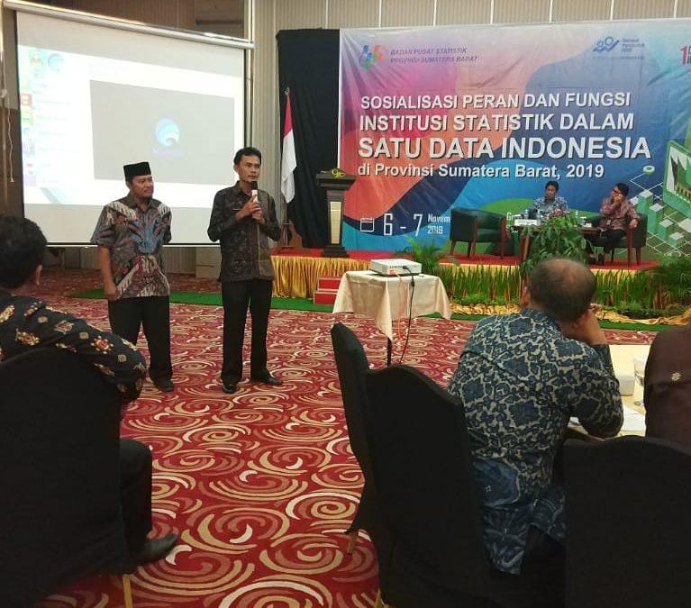 Sosialisasi Peran dan Fungsi Institusi dalam Satu Data Indonesia