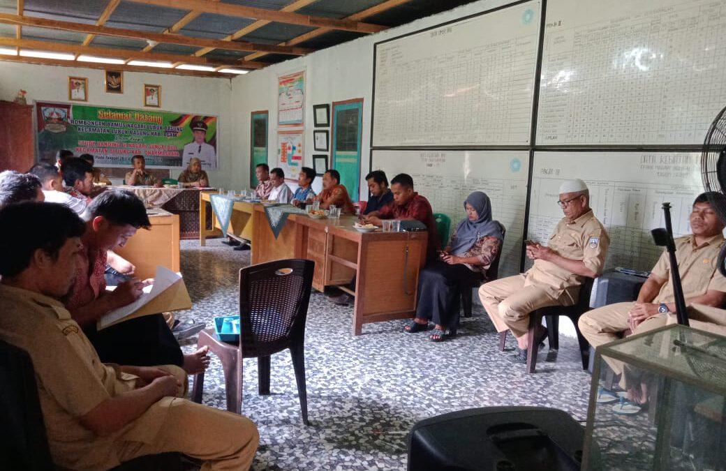 Rakor rutin bulanan Wali Nagari Sungai Duo beserta Perangkat