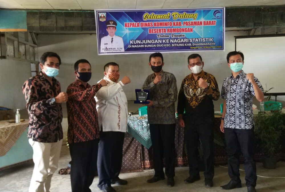 Kunjungan Dinas Kominfo Kabupaten Pasaman Barat beserta Rombongan ke Nagari Statistik nagari Sungai Duo