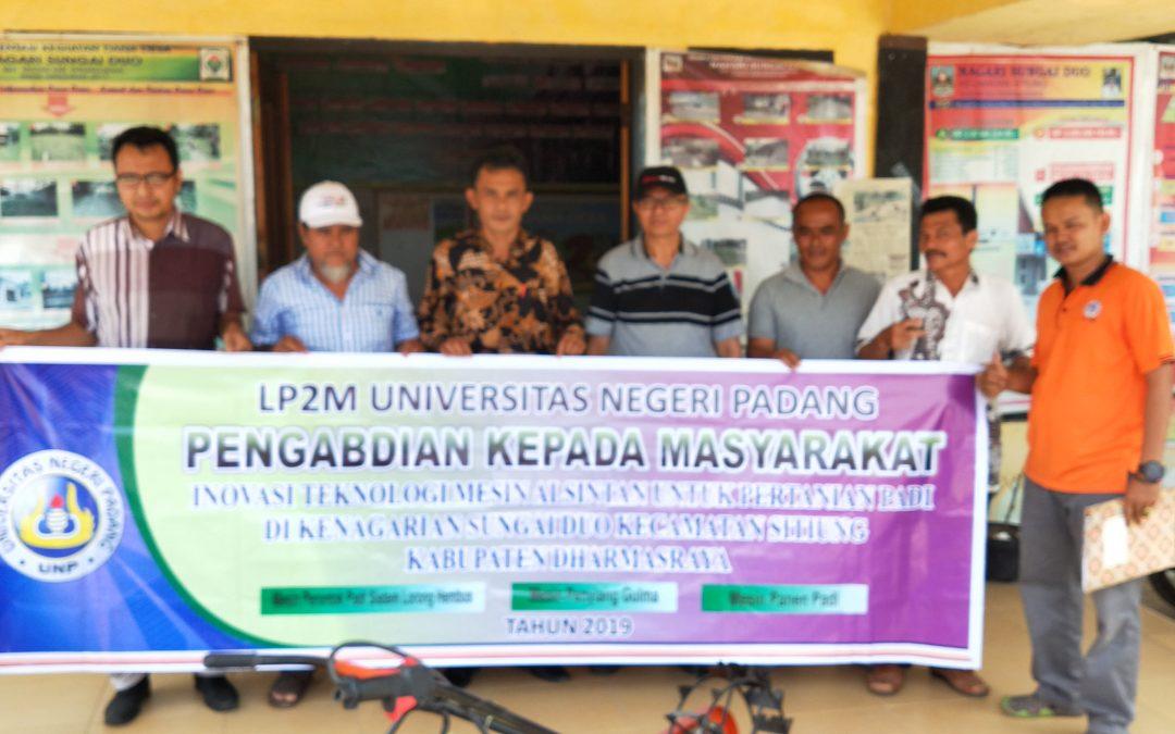 Universitas Negeri Padang  ikut berperan dalam Pengabdian kepada Masyarakat