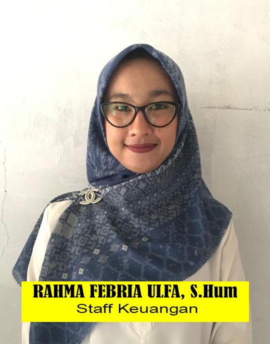 RAHMA FEBRIA ULFA, S.Hum